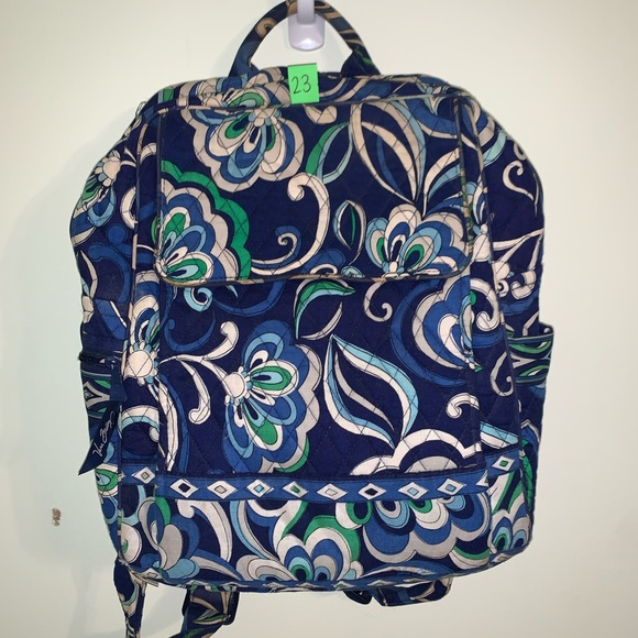Blue Vera Bradley Backpack